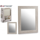 cadre miroir 38x48 gris naturel