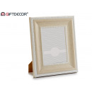 Photo frame 15x20 baroque white aged