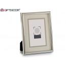 10x15 portafoto sottile cornice argento paspart