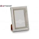 cadre photo 10x15 blanc vieilli gris