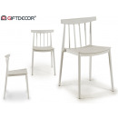 white plastic saw chair