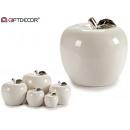 groothandel Home & Living: witte keramische appel chromen jumbo