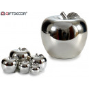 wholesale Home & Living: ceramic apple silver chrome jumbo