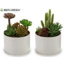wholesale Artificial Flowers: flowerpot ground floor models 2 times assorted