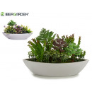 wholesale Artificial Flowers: medium sized oval planter models 2 times assorted