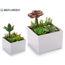 wholesale Artificial Flowers: square low pot models 2 times assorted