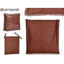 cuscino per sedia 37x37 cm marrone scuro