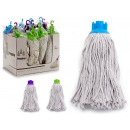 200g white cotton mop, 3 times assorted colo