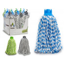 wholesale Storage media: mop mixcrofibre 150gr braided, 3 times assorted