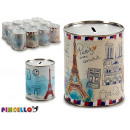 metal piggy bank 1 k france 2 times assorted