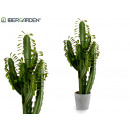 wholesale Artificial Flowers: high plastic cactus green leaves 100cm