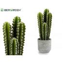 cactus plástico ancho espinas 43cm