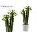 cactus plástico alto hoja verde 44cm