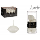 set of 8 white floating candles