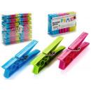 grossiste Outils a main: lot de 20 pinces en plastique 3 couleurs