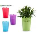 vaso in plastica 9x11,8cm colori 4 volte assortito