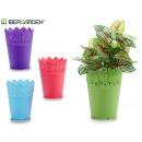 plastic pot 12x15cm colors 4 times assorted
