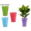 Plastik Blumentopf 14,3x18,5cm Farben 4-fach sorti
