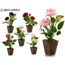 pink plastic flower pot 2 flowers 27cm surt6