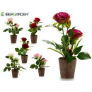pink plastic flower pot 2 flowers 31cm surt6