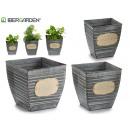 Großhandel Garten & Baumarkt: Set mit 3 quadratischen Zinntöpfen