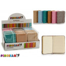 wholesale Gifts & Stationery: linen notebook 7,5x10,5cm colors 4 times assorted