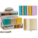 notebook 9x14cm colors 6 times assorted pastel 192