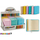 notebook 7,5x10,5cm colors 6 times assorted pastel