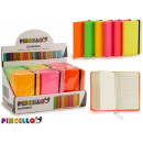 notebook 9x14cm colors 6 times assorted vivid 192
