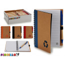 notebook 12x16cm recycling colors 4 times assorted
