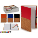 notebook 12,5x18cm wooden cover 4 times assorted 1