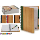 notebook 14x18cm bambu colors 4 times assorted 140