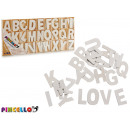 set of letters 104 pieces white wood