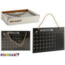blackboard hanging calendar 26x39,5cm