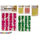 adesivi lettere e numeri colori 4 volte assortito
