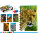 wholesale Booklets & Blocks: notepad a6 cap 3d animals 6 times assorted 196 pá