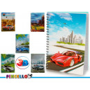 notepad a4 top 3d cars 6 times assorted 196 pages