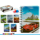 notepad a6 top 3d cars 6 times assorted 196 pages
