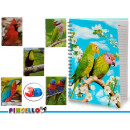 bloc-notes a4 couvercle 3d perroquets 6 fois assor