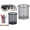 round metal pencil holder, colors 2 times assorted
