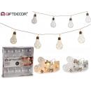 Großhandel Leuchtmittel: LED-Streifen 8 transparente Lampen