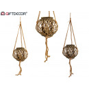 wicker rope holder brown diameter 26cm