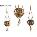 wicker candle holder rope brown diameter 38cm