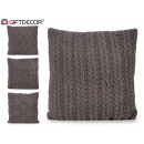 wholesale Cushions & Blankets: dark gray wool cushion 60x60cm 4 times assorted
