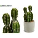 mayorista Casa y decoración: cactus plástico ancho espinas 23cm