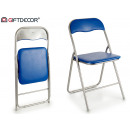 dark blue folding chair