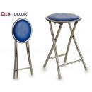 dark blue foldable stool