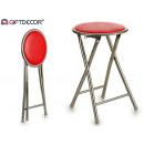 red folding stool