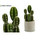 mayorista Casa y decoración: cactus plástico ancho espinas 29cm