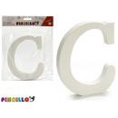 lettera c legno bianco 1,8x15cm